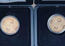 2 x 5 Gulden 2000 Nostalgie Europees Kampioenschap Voetbal  in PP / BE / Proof !