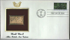 World War II Allies Retake New Guinea FDC 22kt God Replica Stamp #132