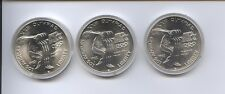 1983 OLYMPIC 3 PIECE UNCIRCULATED SILVER DOLLARS SET
