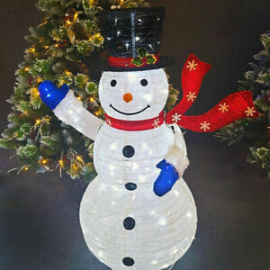 Christmas Decorations 4ft LED Light Snowman Yard Art Outdoor Lighted Display