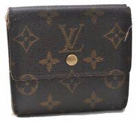 Authentic Louis Vuitton Monogram Portefeuille Elise Purse Wallet M61654 LV A9522