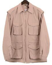 Beretta Sport Made n ITALY Khaki Tan Nylon Cotton Safari Utility Field Jacket 40