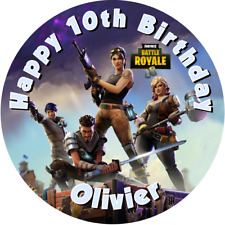 """Fortnite Game PC Xbox PS4 7.5"""" ROUND Icing Cake Topper"""