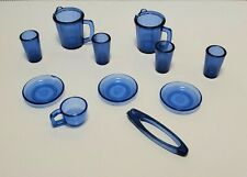 Barbie BLUE DISHES CUPS PITCHERS TONGS PLATES Accessories Kitchen Food Grocery