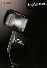 Prospekt Sigma elektronenblitzgeräte 9/08 2008 folleto EF 530 DG Super St em 1