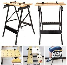 Foldable Workbench Portable Wood Clamping Folding Workmate Table Garage New Uk