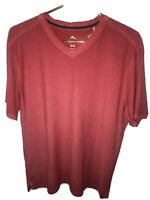 Tommy Bahama Cirrus Coast V-Neck S/S Cotton Blend Stretch M Mandalay Red NWT