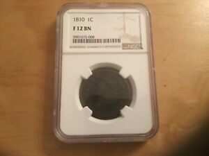 1810 CLASSIC HEAD LARGE CENT SHELDON 284 RARITY 3 COIN NGC F12 BN