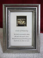 """Friendship Gifts Hearts Curio Frame w/ Pewter Finish """"CIRCLE OF FRIENDSHIP"""""""