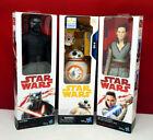 Star Wars The Last Jedi 12-inch Rey (Jedi Training), Kylo Ren & BB-8 Set of 3!
