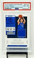 2018 Contenders Rookie Ticket Swatch LUKA DONCIC Rookie Card PSA 8 NM-MT Pop 16