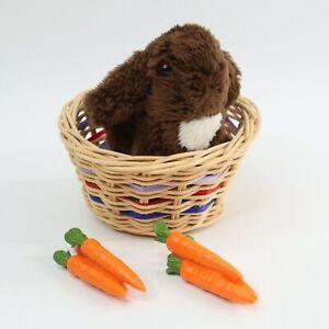 American Girl Julie's Bunny Nutmeg, Basket, Pillow, and Carrots