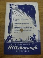 21/02/1962 Sheffield Wednesday v Manchester United [FA Cup Replay] (4 Pages, Lar