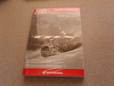 NOS Honda Owners Manual 2007 TRX400