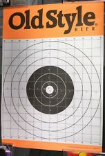 Old Style Beer / Lot Of 2 1994 Hunters Bullseye Target Practice Posters Man Cave