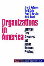Organizations in America: Analyzing Their Structures and Human-ExLibrary