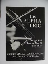 1971 Alpha Trio Yale Concert Poster Chou Hei Min Louis Rowen Chester Swiatkowski
