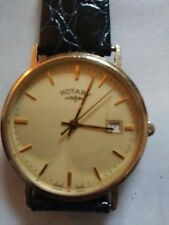 Rotary 9kt Solid Gold Watch Swisss Made with Date