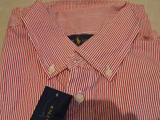 Polo Ralph Lauren BNWT € 75 Divina Rojo a Rayas adolescente inteligente Muchachos Camisa Edad 16