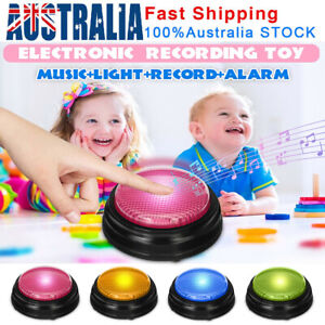 4Pcs LED Recordable Talking Button Sound Button Game Toy Answer Buzzer Xmas Gift