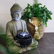 Springbrunnen Buddha Zimmerbrunnen LED Zierbrunnen Gartenbrunnen 230V 101402