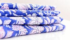 5 Yard Indian Hand Block Print Fabric Floral Cotton Garment Dress Fabric Textile