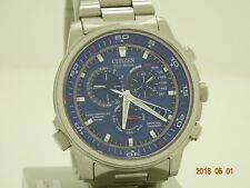 Citizen Eco Drive Nighthawk A.T. chronograph Watch AT4110-55L rrp £379