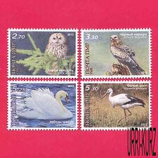 TRANSNISTRIA 2013 Nature Fauna Birds Owl Hawk Kite Swan Stork 4v MNH