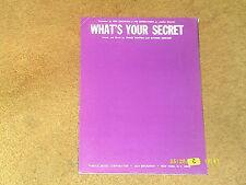 Ron Cochrane & Entertainers sheet music What's Your Secret '67 3 pp. (VG+ shape)
