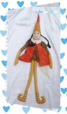 Poupée Lutin Doudou Elfe Ruban Fille Robe Orange Rayures L'oiseau Bateau 65 cm