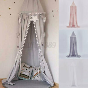 Kids Princess Bed Canopy Cotton Bedcover Mosquito Net Curtain Bedding Dome   AU