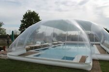 Inflatable Hot Tub Swimming Pool Solar Dome Cover Tent W/ Blower & Pump