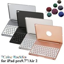 "iPad Pro 9.7"" Air 2 iPad Mini Keyboard Case Cover Bluetooth Stand LED Backlit WF"