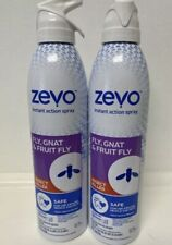2 Pack Zevo Fly Gnat and Fruit Fly Insect Spray - 10oz