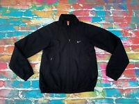 D60 Men's Nike Black Zipped Jacket The Athletic Dept Small UK 34/36