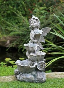 Garden Water Feature Fountain LED Lights Indoor Outdoor Statues Decor Ornament