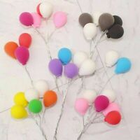 3PC Mini Balloon Cake Topper Birthday Party Wedding Cupcake Dessert Decors Kzx