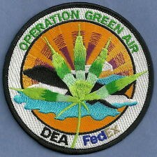 DEA OPERATION GREEN AIR NARCOTICS ENFORCEMENT POLICE PATCH