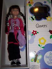 "New in Box Retired American Girl Hopscotch Hill 16"" Gwen Doll & Book Soccer HTF"