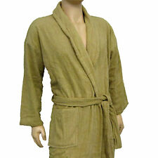 100% COTTON HEAVYWEIGHT TERRY TOWELING BATH ROBE - PREMIUM QUALITY TAUPE BEIGE