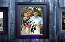 Michael C. Hall Julie Benz Dexter SIGNED FRAMED 10x8 REPRO PHOTO PRINT Rita