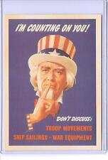 VINTAGE I'M COUNTING ON YOU UNCLE SAM WAR ADVERTISING REPRODUCTION POSTCARD