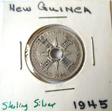 1945 New Guinea KM8 Sterling Silver 1 Shilling Coin Starter 4 your collection