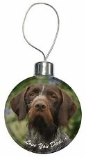 German Pointer 'Love You Dad' Christmas Tree Bauble Decoration Gift, DAD-48CB