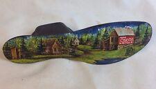 Vintage Coca Cola Cast Iron Cobbler Shoe Door Stop Rustic Country Signed Art