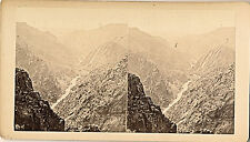 c1880-1889 Sv Arkansas River from Above Sepia Lg. Stereoview