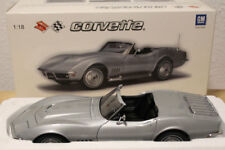 Autoart 1/18, Chevrolet Corvette roadster 1969, plata, silver nuevo en OVP