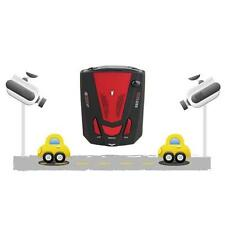 Car Escort Anti-Police Safty GPS Radar Detector Voice Alert Laser V7 LED Red TR