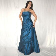 Elegante Satén Vestido Maxi XS 34 Vestido de Cóctel de Noche Vestido Tubo Baile