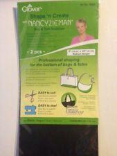 Clover 9504 Bag&Tote Stabilizer, Taschenboden Stabilisierer schwarz, 2 St.-Packg